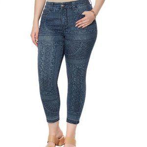 MELISSA MCCARTHY SEVEN7 Tibet printed jeans   12